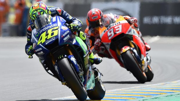 Persaingan antara Valentino Rossi dan Marc Marquez sudah terjadi sejak 2013.