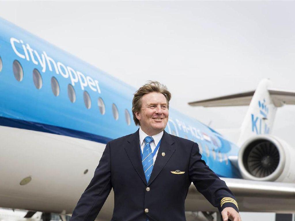 Mengenal Raja Belanda Willem yang Pernah Jadi Pilot KLM