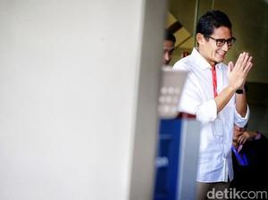 Sandiaga Diperiksa Sebagai Saksi Dua Kasus Korupsi di KPK