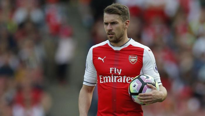 Aaron Ramsey di laga lawan Everton (Foto: Action Images via Reuters / Andrew Couldridge)
