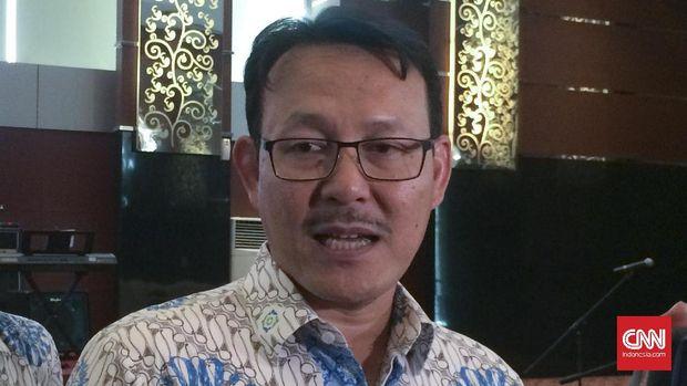 Direktur Utama BPJS Kesehatan Fachmi Idris di Jakarta, Selasa (23/5).