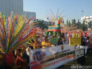 Sambut Ramadan, 14 Ribu Pelajar Meriahkan Karnaval Dugderan Semarang