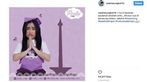 Zaskia Sungkar Kok Posting Duka Kampung Melayu Sambil Promosi?
