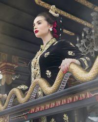 Sheldry Saez, Miss Panama 2011 berbusana tradisional Jawa (KBRI Panama City)