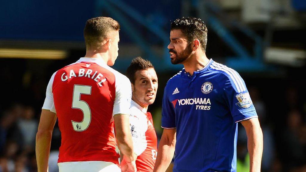 Diego Costa vs Arsenal: Cetak 2 Gol dan Bikin 2 Pemain Dikartu Merah