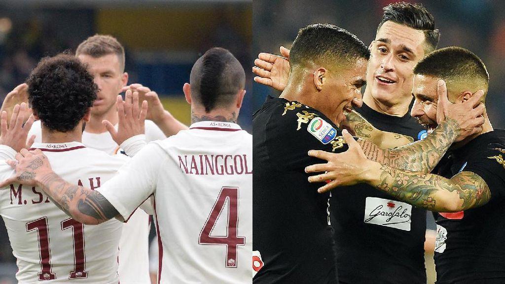 Roma-Napoli Berebut Tiket ke Fase Grup Liga Champions di Pekan Terakhir