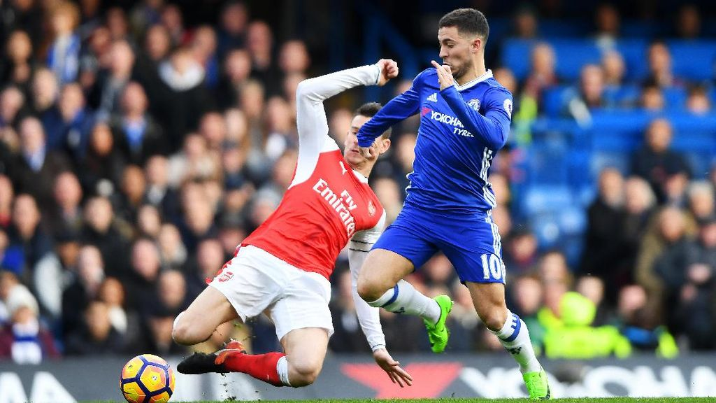 Arsenal Takkan Biarkan Hazard Merajalela Lagi