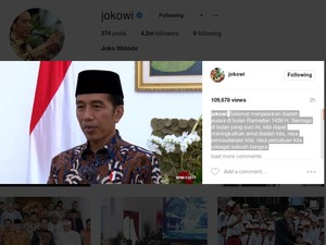Jokowi: Selamat Berpuasa, Semoga Meningkatkan Rasa Persatuan Bangsa