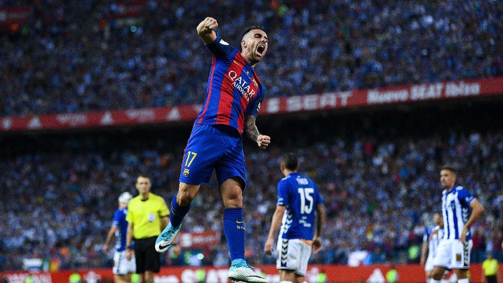 Kerja Keras Alcacer Terbayar dengan Gol di Final Copa del Rey