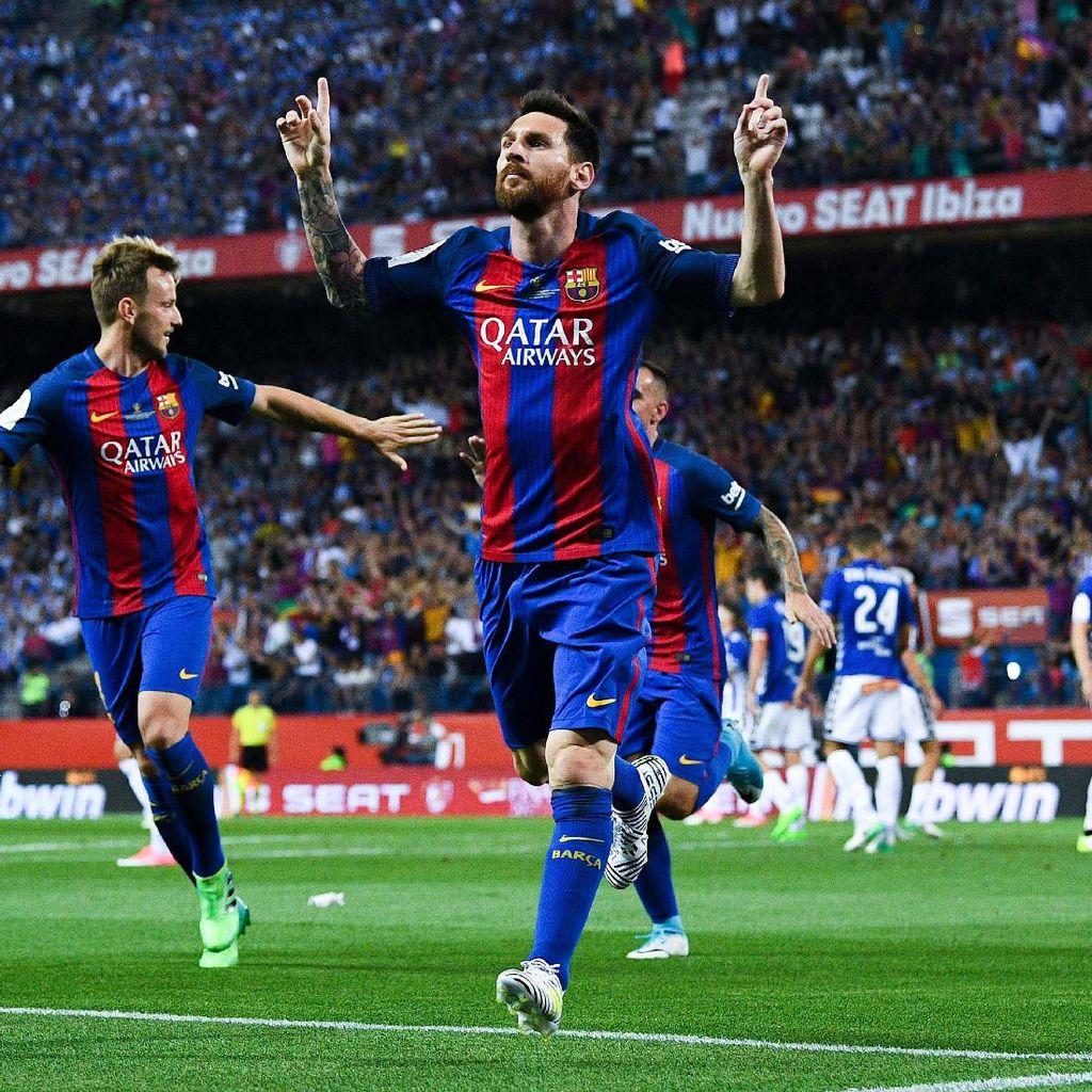 Messi Spesialis Pencetak Gol di Final Copa del Rey