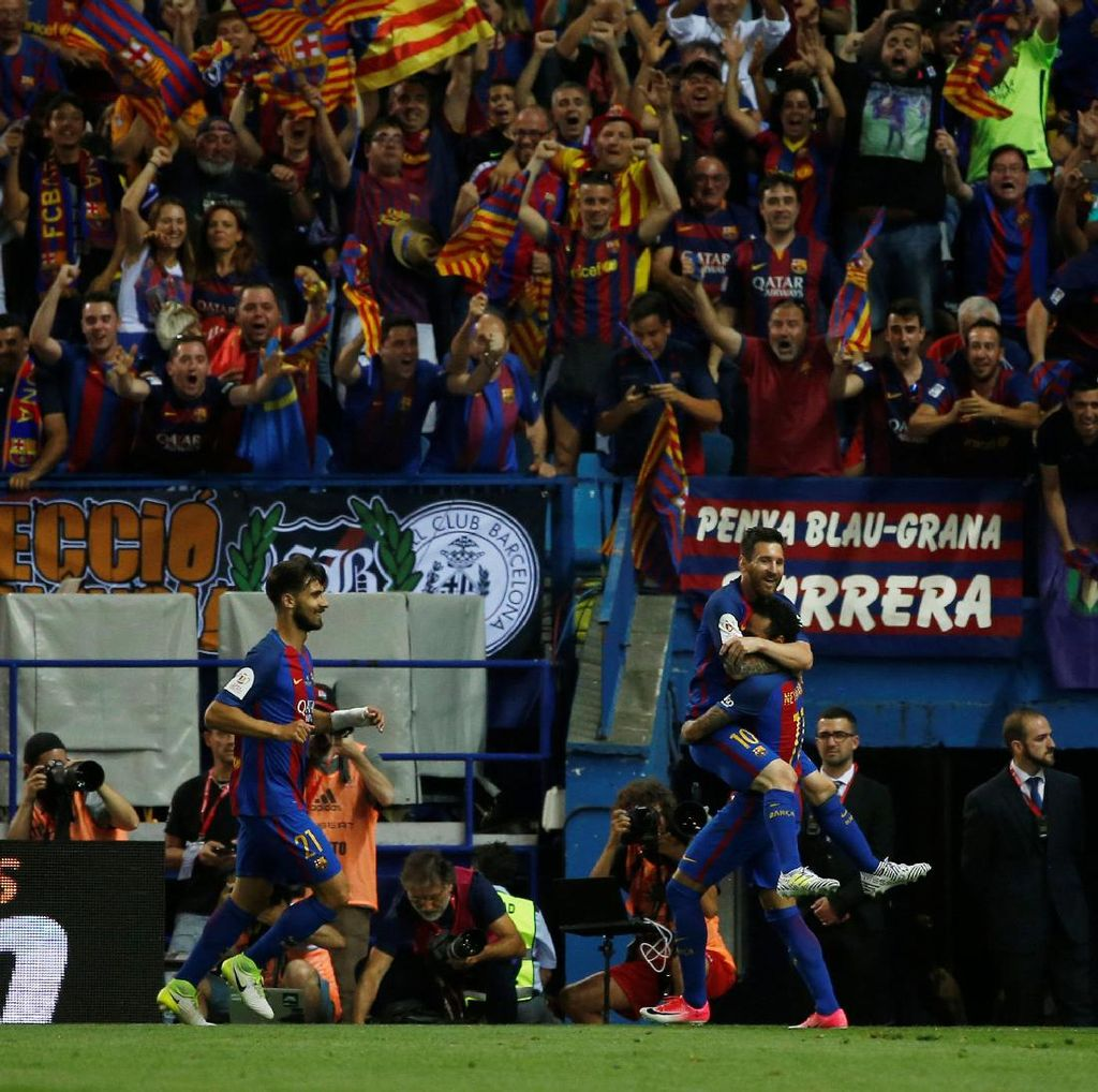 Tundukkan Alaves, Barca Juara Copa del Rey