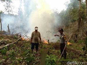 Bakar Lahan,  Warga Suku Talang Mamak di Riau Ditangkap Polisi