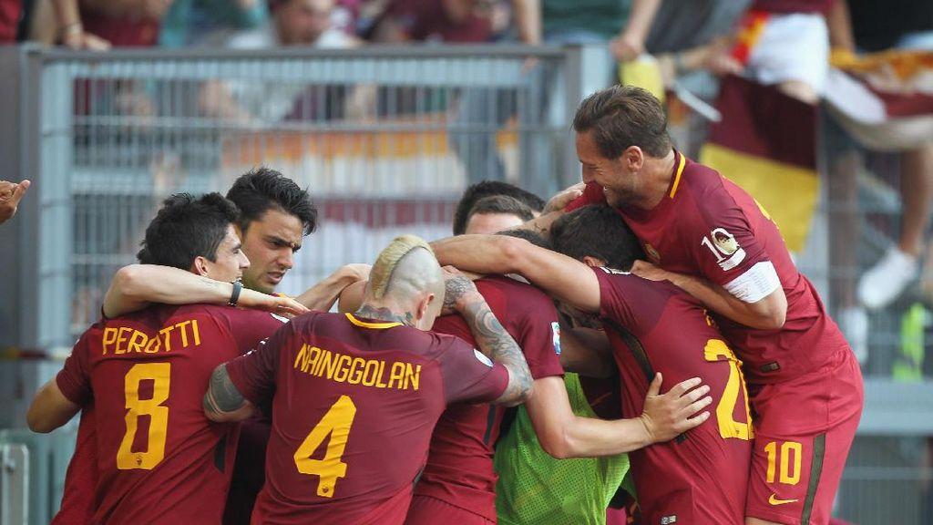 Roma Menang dan Kunci Posisi Dua di Laga Terakhir Totti