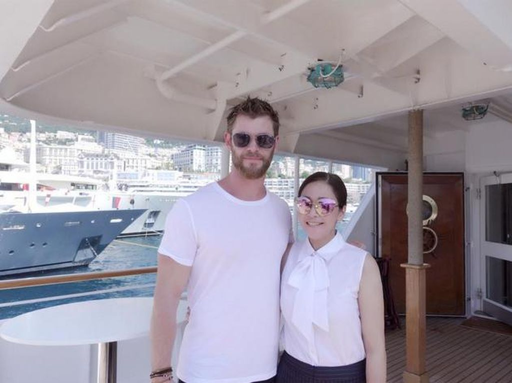 Chris Hemsworth, Maia Estianty dan Monako