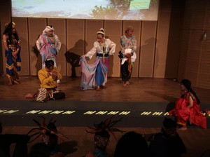 Maria Selena Belajar Logat Sunda di Panggung Sandiwara Sangkuriang