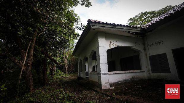 Sebuah bangunan di Pulau Rabiah tempat Belanda menahan para pejuang Aceh.