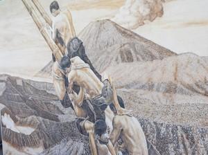 Harga Lukisan Bara Api Wawan Geni Bernilai Puluhan Juta Rupiah