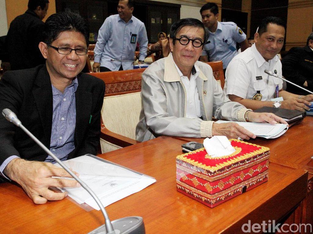 Menkum Ham, KPK dan BNN Raker dengan Komisi III DPR