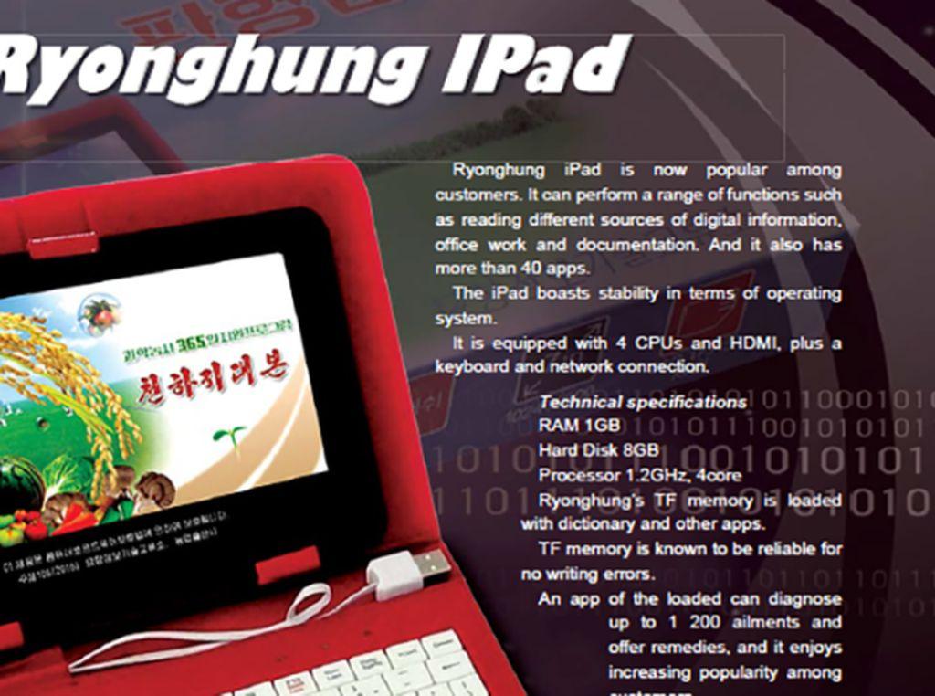Ryonghung iPad, Tablet ala Korea Utara