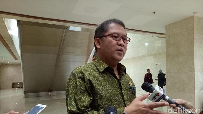 Menkominfo Rudiantara. Foto: Gibran Maulana Ibrahim/detikcom