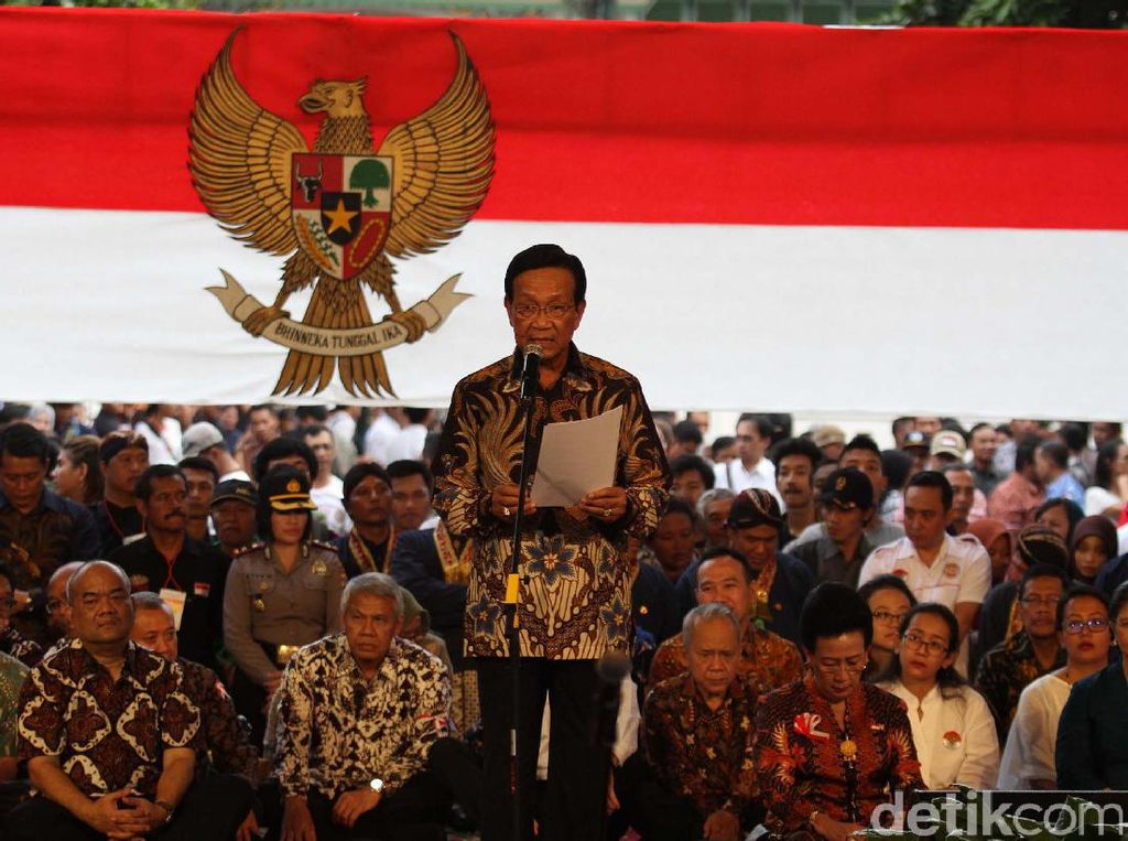 Sultan HB X dan Ribuan Warga Yogyakarta Peringati Hari Lahir Pancasila
