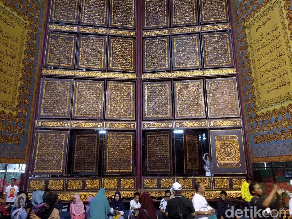 Wisata Religi Al Quran Raksasa di Palembang Dibuka Lagi