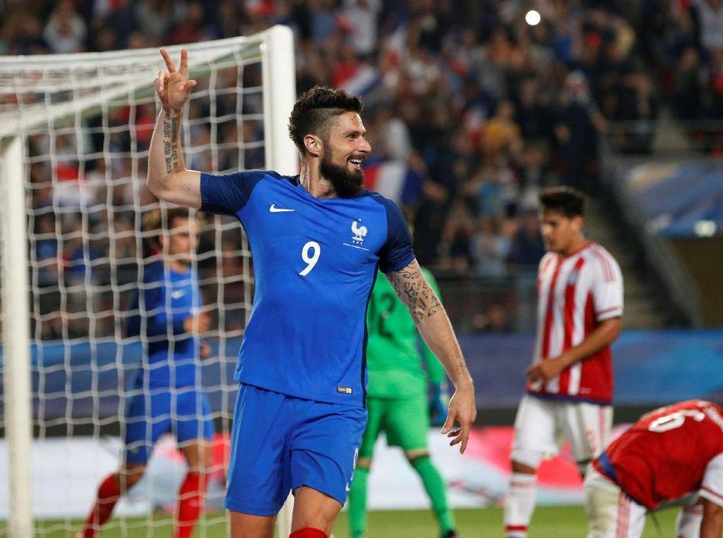 Giroud Hat-trick, Prancis Lumat Paraguay 5-0