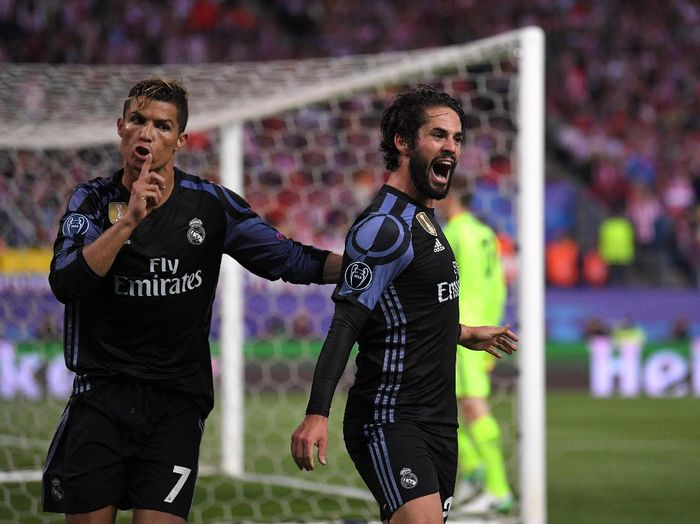 Cristiano Ronaldi di pertandingan Real Madrid melawan Malaga. (Foto: Laurence Griffiths/Getty Images)