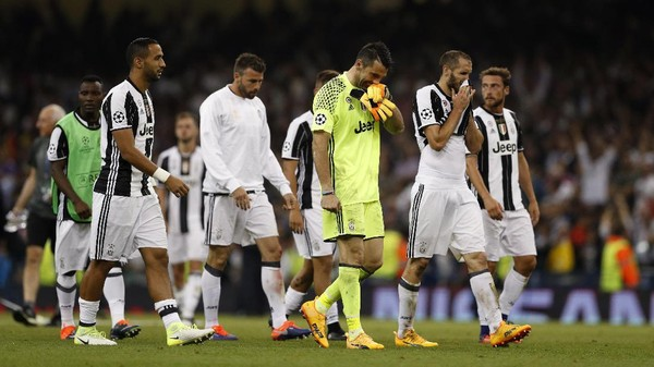 Juventus Sudah Tujuh Kali Kalah di Final Piala/Liga Champions