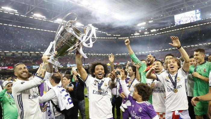 Real Madrid yakin bisa memenangi Liga Champions untuk keempat kalinya beruntun. Foto: Reuters