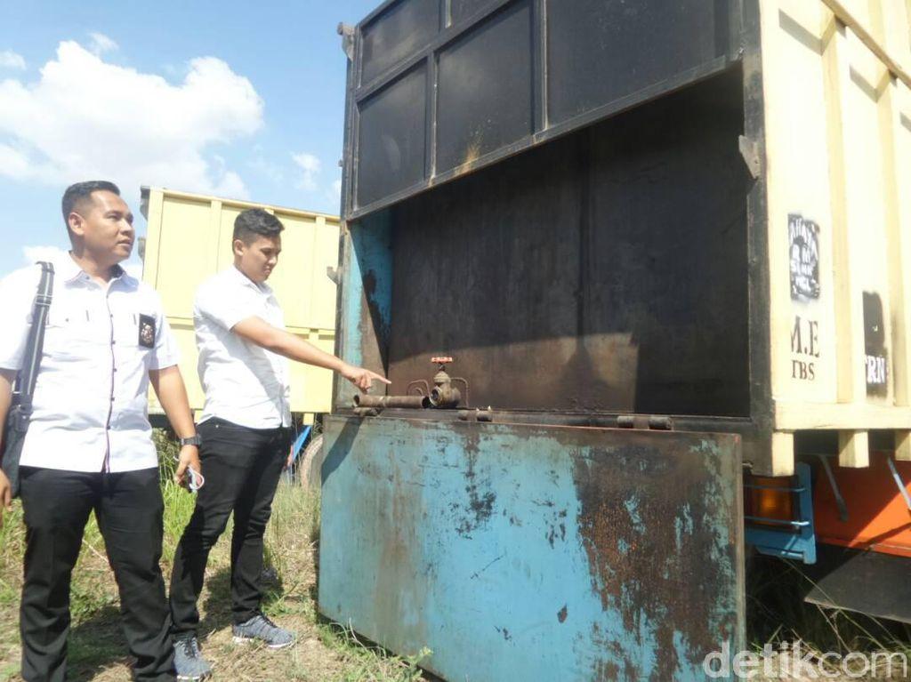 16 Ton BBM Ilegal Diamankan di Palembang, Diduga Milik Oknum Polisi