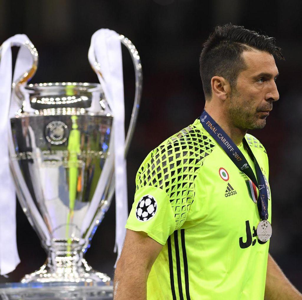 Spanduk Real Madrid di Pagar Rumah Buffon