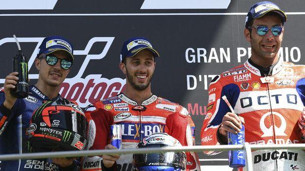 Musim lalu pebalap Ducati Andrea Dovizioso berhasil menjadi pemenang MotoGP Italia.