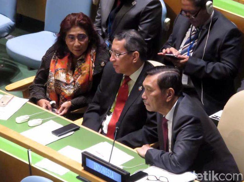 Duet Luhut dan Susi di Konferensi Kelautan PBB