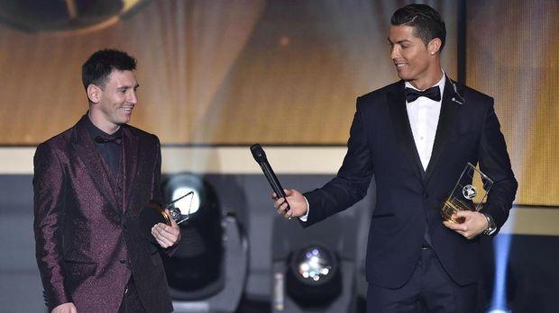 Lionel Messi dan Cristiano Ronaldo sempat mendominasi gelar Ballon d'Or.