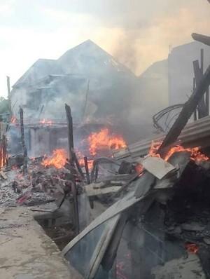 Kakak-Adik Main Korek Api, 9 Rumah Ludes Terbakar di Palembang