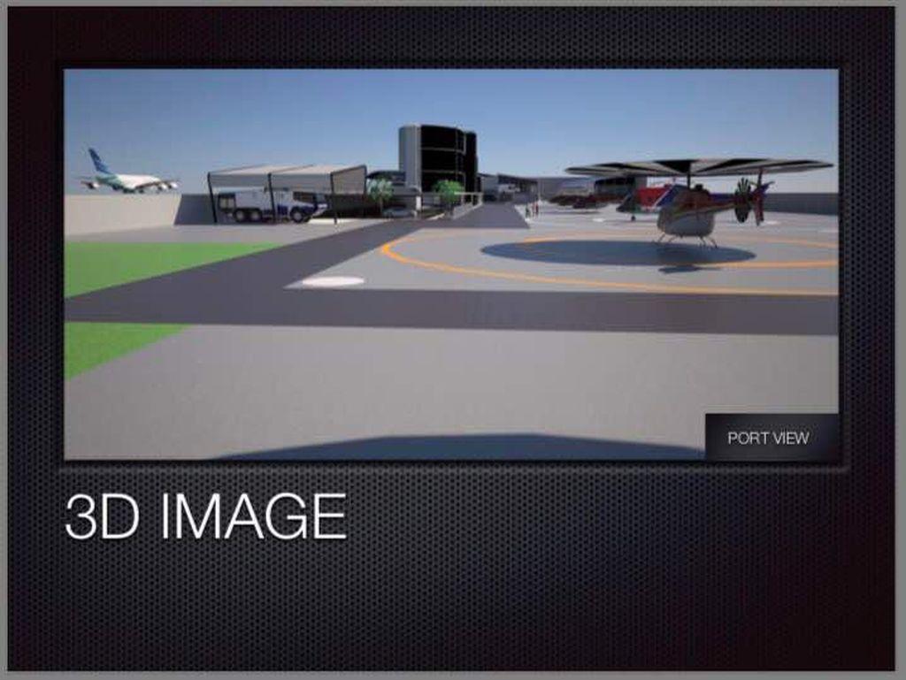 Begini Penampakan Terminal Helikopter Pertama RI, Beroperasi 2018