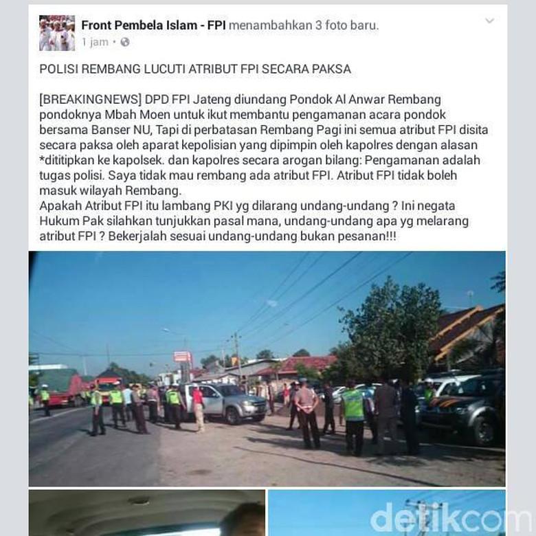 Berita Hoax FPI Dilucuti ini Diklarifikasi Langsung Oleh Polres Rembang