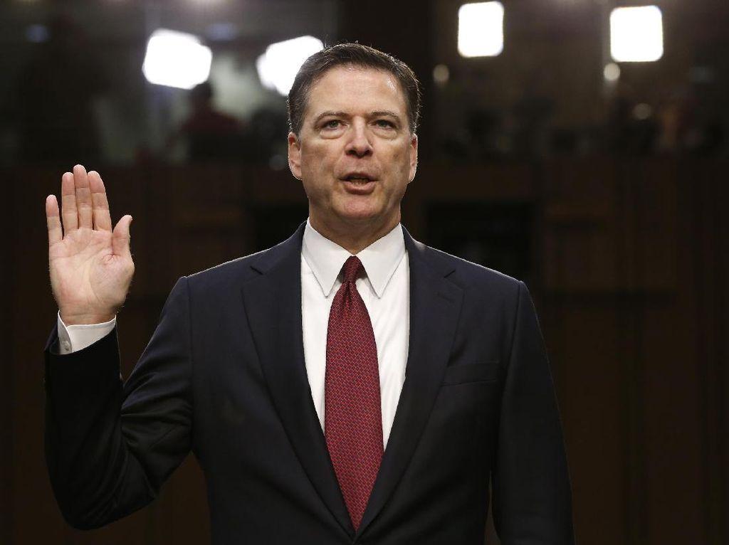 Di Depan Senat AS, Mantan Direktur FBI Bicara Soal Pemecatannya