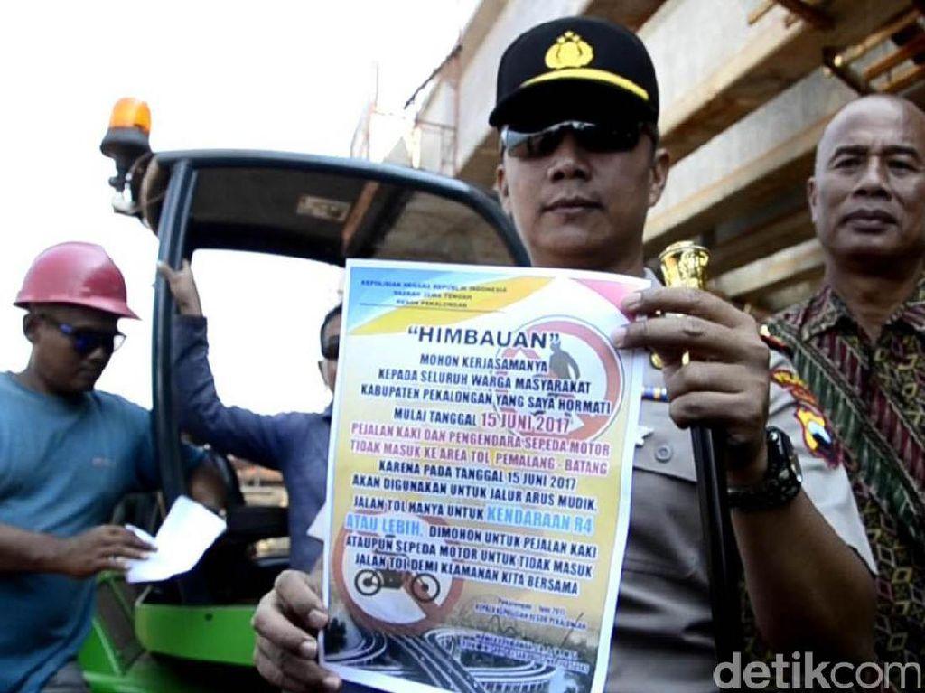 Mulai 15 Juni, Polisi Larang Warga Masuk Tol Pemalang-Batang