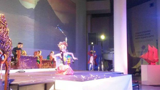 Pertunjukan tari Bali (KBRI Moskow)
