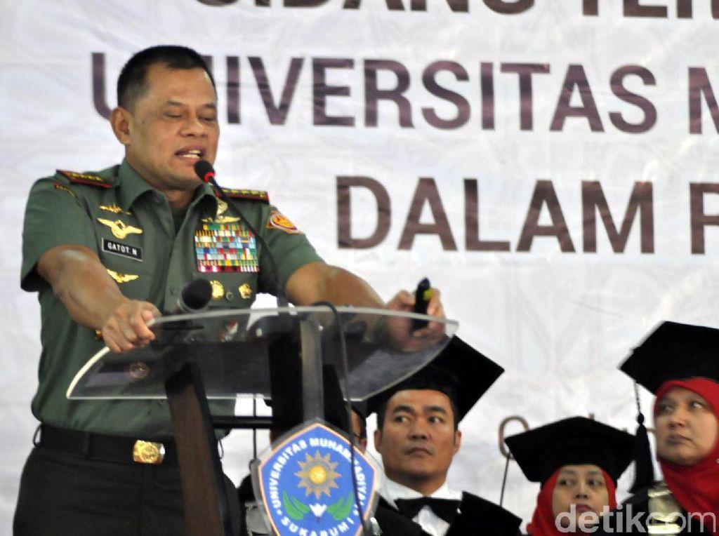 Panglima TNI Singgung Polemik UU Pemilu di Rapimnas Hanura