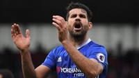 Di nomor 3 ada Diego Costa. Eks penyerang Chelsea punya koleksi 52 gol di Liga Inggris (Laurence Griffiths/Getty Images)