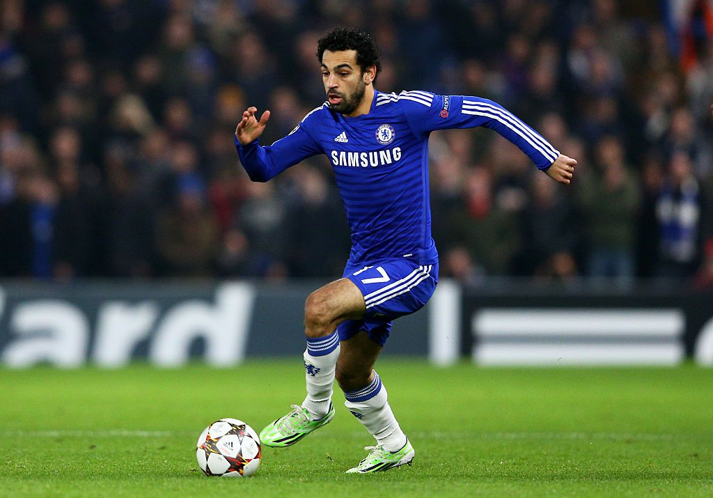 LONDON, ENGLAND - DECEMBER 10:  Mohamed Salah of Chelsea runs with the ball during the UEFA Champions League group G match between Chelsea and Sporting Clube de Portugal at Stamford Bridge on December 10, 2014 in London, United Kingdom.  (Photo by Clive Mason/Getty Images)