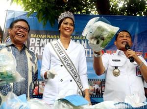 Video Si Cantik Puteri Indonesia Musnahkan Narkoba