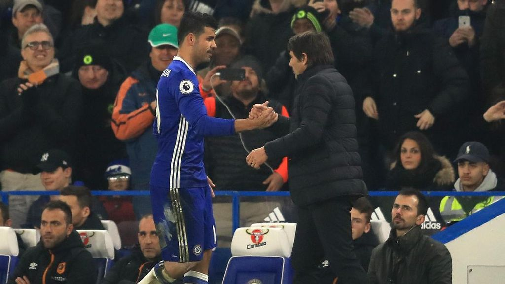 Diego Costa Tak Pendam Rasa Kesal ke Conte