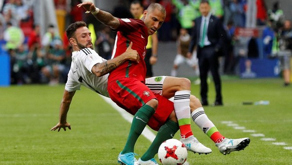 Gol Meksiko di <i>Injury Time</i> Buyarkan Kemenangan Portugal