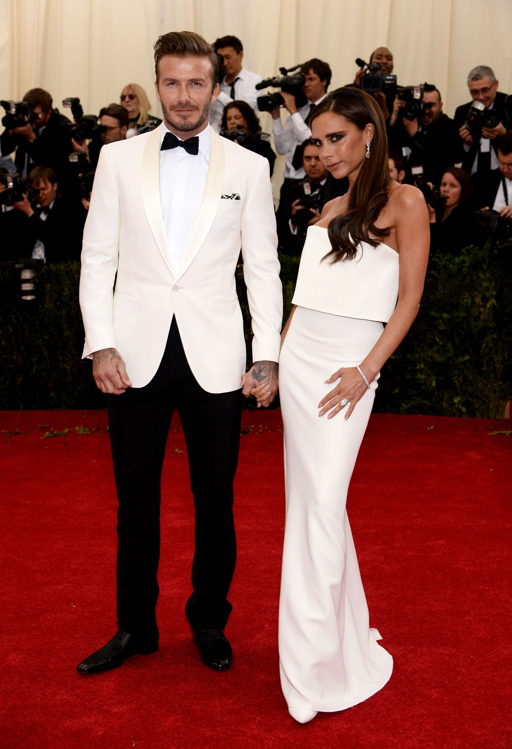 NEW YORK, NY - MAY 05:  David Beckham and Victoria Beckham attend the