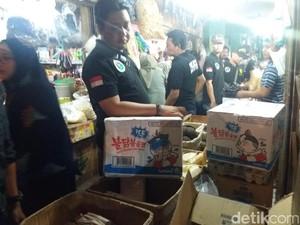 Polisi dan BPOM Temukan Samyang Tanpa Izin Edar di Pasar Grogol