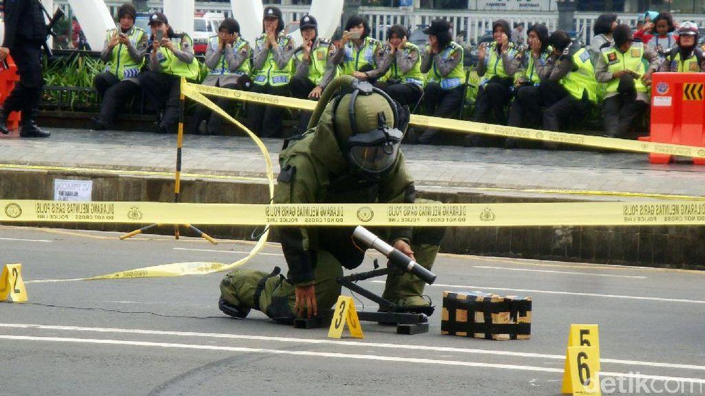 Polisi Gelar Simulasi Ancaman Penanganan Teror Saat Lebaran
